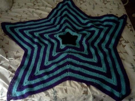 star shaped afghan  star knit blanket crochet  cut