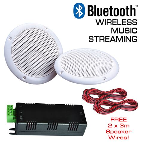 wireless bluetooth ceiling speakers water resistant stereo
