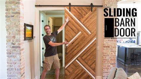 wood sliding barn door easy diy woodworking youtube