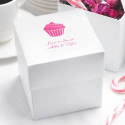 Cupcake Boxes For Wedding Favors by White Shimmer Personalized Cupcake Boxes Set Of 25