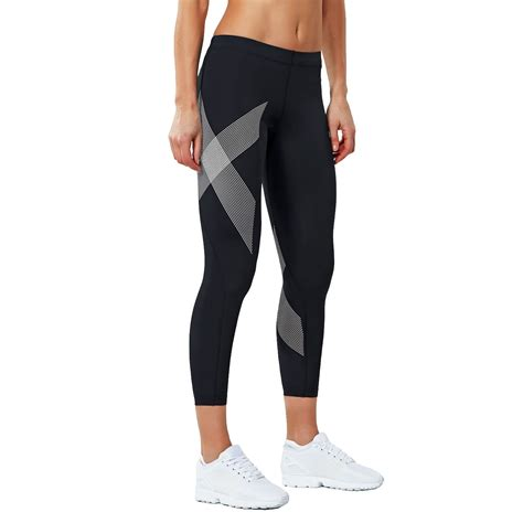 Legging 7 8 Size Standar 2xu compression womens 7 8 tights black striped white sportitude