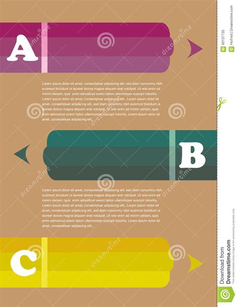page layout design free vector three colored pencil page layout design stock vector