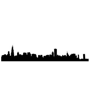 Dark Green Bedroom chicago city outline 171 my wall skins