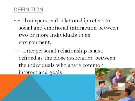 Relationship Definition Interpersonal Relationship