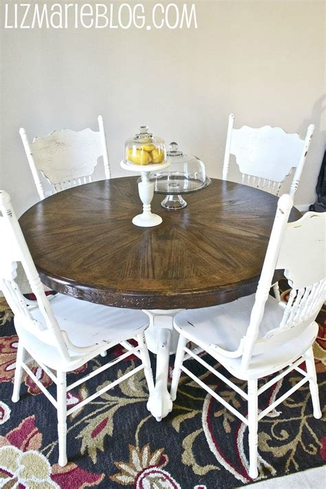 Staining A Kitchen Table Wood Stain White Kitchen Table