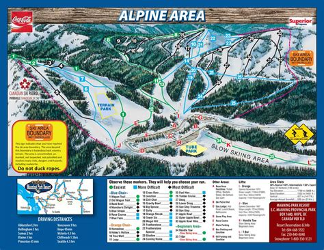 Outdoor Area by Trail Maps Ski Snowboard Cross Country Manning Park