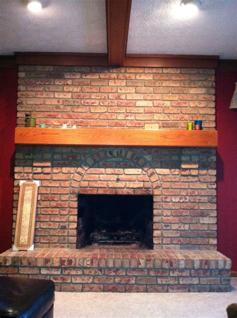 Brick Fireplace by 1980s Large Brick Fireplace Ideas To Update
