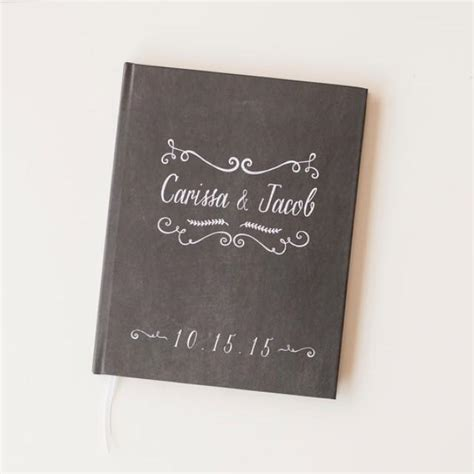 Wedding Gift Book by Chalkboard Wedding Guest Book Wedding Guestbook