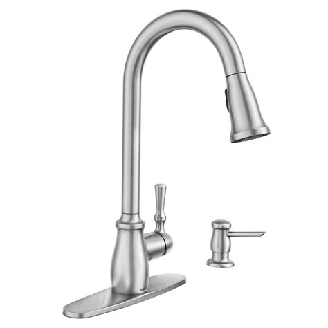 clean kitchen faucet moen fieldstone single handle pull sprayer kitchen