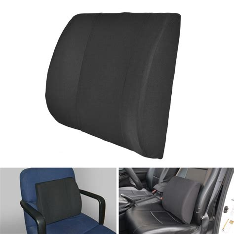 memory foam desk chair lumbar cushion back support travel pillow memory foam car