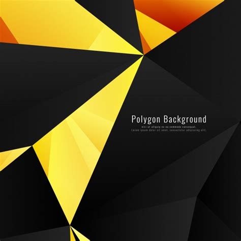 yellow geometric background design vector from free vector yellow and black geometric background vector free download