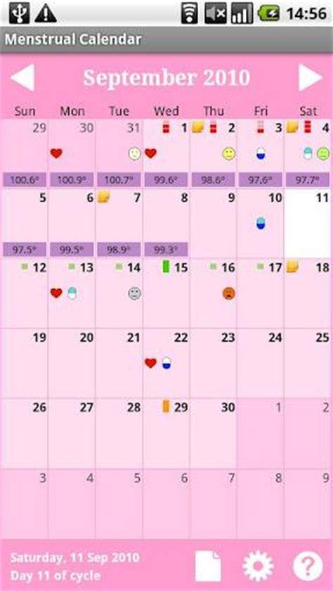 Calendario Menstrual Gratis Menstrual Calendar