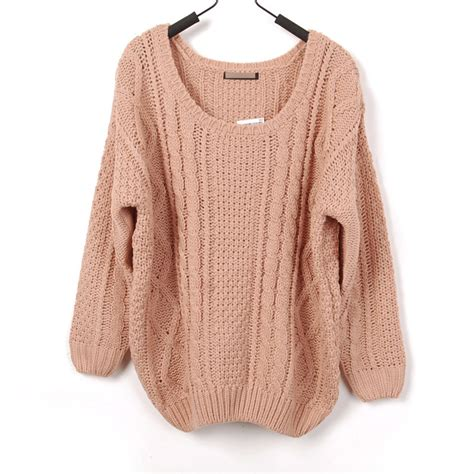 knitting pattern loose sweater loose style large round collar crochet knitted gathered