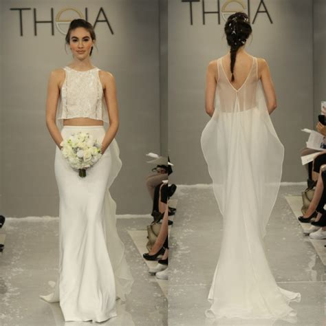 Top Wedding Dresses by 10 Pretty Crop Top Wedding Dresses Aisle