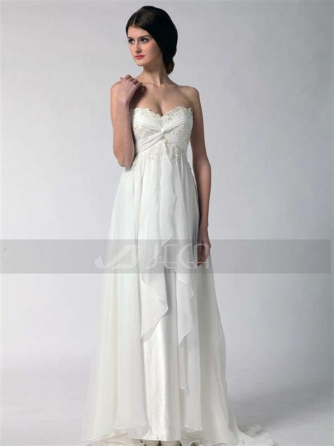grecian wedding dress causal wedding dress by