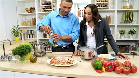 Black Cooking In The Kitchen by Ethnic Business Home Kitchen Counter Shopping