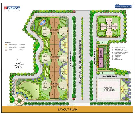 layout plan sector 56 faridabad omaxe new heights prithvi estates