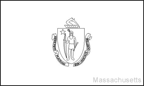 Massachusetts State Flag Coloring Page massachusetts state flag coloring pages usa for