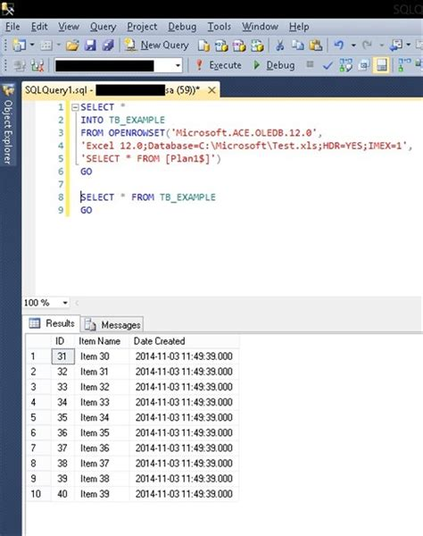 Host Excel Spreadsheet by Insert Data Into Table From Excel File In Sql Server How