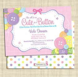 as a button baby shower invitation baby shower