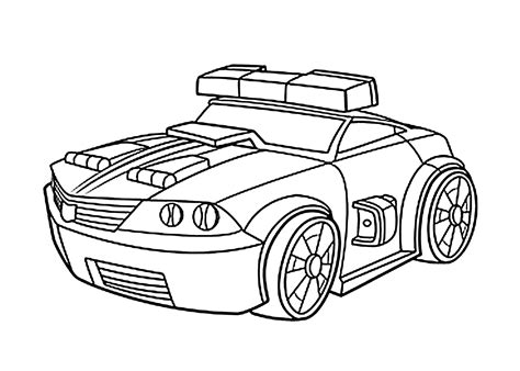 Chase Police Bot Coloring Pages For Kids Printable Free Printable Rescue Bots Coloring Pages