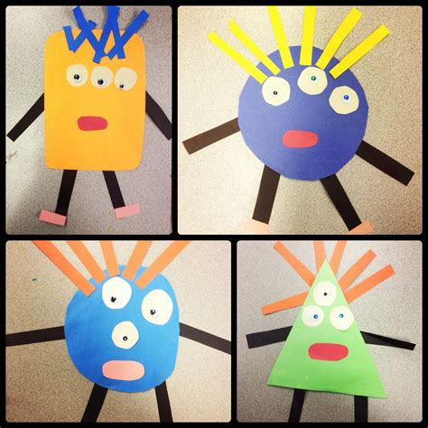 drawing themes for kindergarten geometric monsters art lesson special education pre