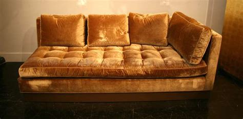 custom gold silk velvet sectional sofa usa   stdibs