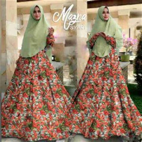 Baju Busana Muslim Setelan Wanita Zemma Avocado baju gamis cantik b051 mazna syar i busana muslim terbaru
