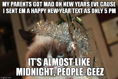 Happy New Year Cat Meme - grumpy cat new years imgflip