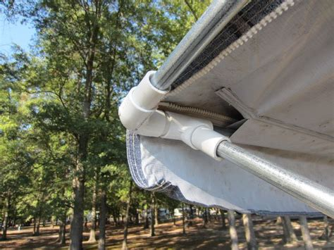 motorhome awning fitting simple cheap awning mod using pvc pipe fittings and
