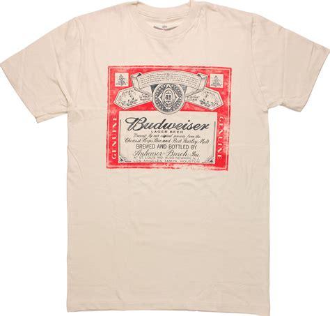 Tees Kaos T Shirt Budweiser budweiser distressed label t shirt