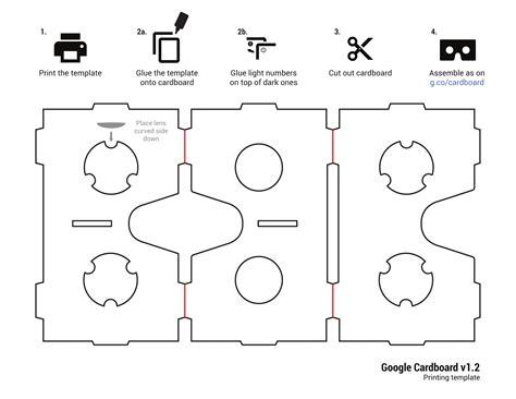 Google Cardboard Template M Pinterest Templates Google And Clip Art Vr Cardboard Template