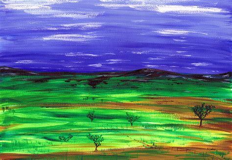 Landscape Into Kenneth Clark Fields Of Dreams Painting By Kenneth Clarke