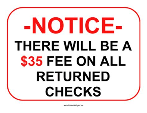 Is A Background Check A Sign Printable Returned Checks 35 Dollars Sign