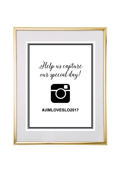 Free Printable Hashtag Wedding Sign Free Wedding Sign Templates