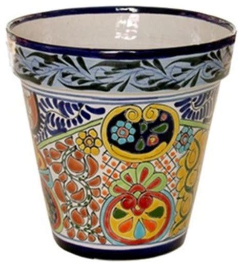 10 diameter ceramic pot mexican talavera flower pot 10 quot diameter large