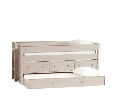 pottery barn bunk beds with trundle elliott captain s bed trundle pottery barn