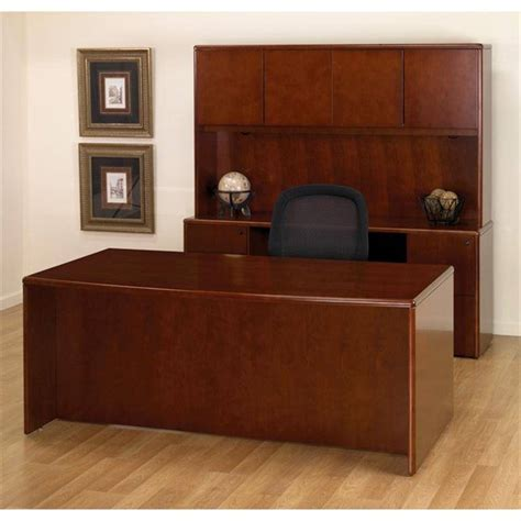 Cherry Wood Office Desk Sonoma Executive Office Desk Suite In Cherry Wood Free Shipping