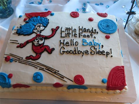 Dr Suess Themed Baby Shower by Chower Cake For A Dr Seuss Themed Baby Shower