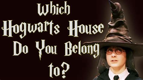 which hogwarts house are you which hogwarts house do you belong to harry potter sorting hat interactive game youtube