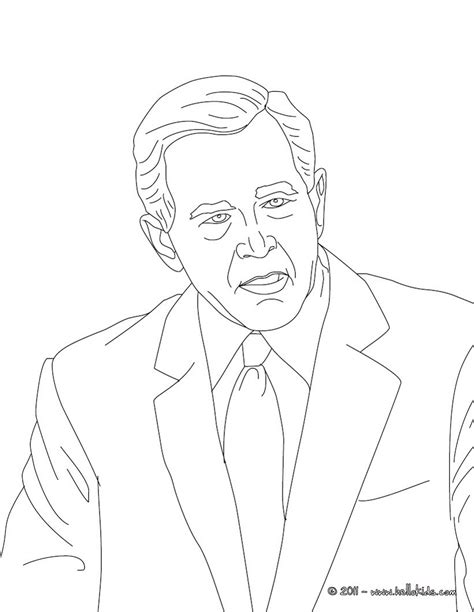 George W Bush Coloring Page by George W Bush Free Colouring Pages