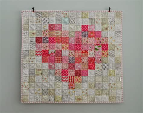 Handmade Patterns - s o t a k handmade pink a finished baby quilt