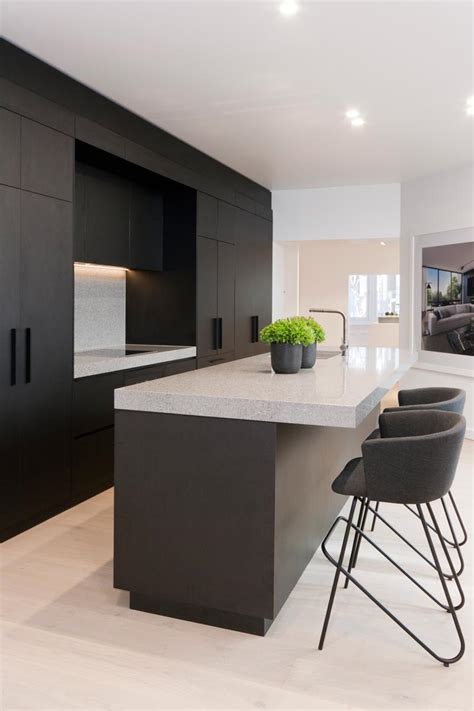 black kitchen island contemporary kitchen airoom penkivil st bondi premier kitchens