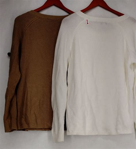 knit pack wendy williams sweater xl 2 pack cable knit sweaters white