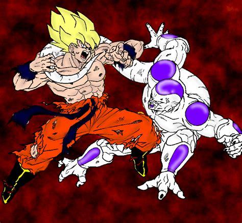 Goku Vs Frieza goku vs frieza by thelucasrbp on deviantart