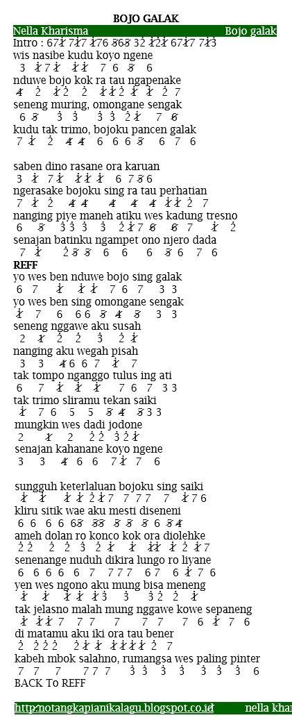 download lagu bojo galak not angka pianika lagu nella kharisma bojo galak