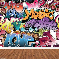 graffiti wallpaper custom retro graffiti artistic urban background wall mural