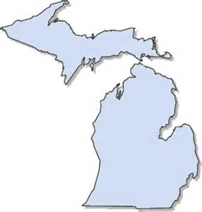 Outline Of Michigan State by State Of Michigan 187 Travel