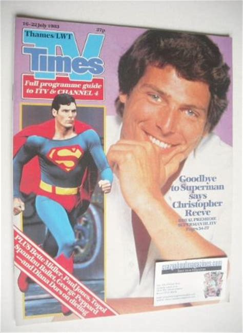 christopher reeve time magazine tv times magazine christopher reeve cover 16 22 july 1983
