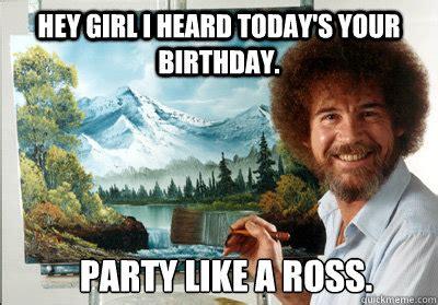 bob ross birthday meme google search happy birthday